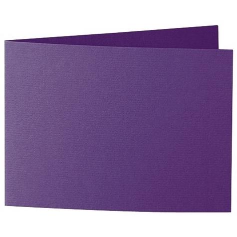 Artoz 1001 - 'Violet' Card. 338mm x 120mm 220gsm B6 Bi-Fold (Short Edge) Card.
