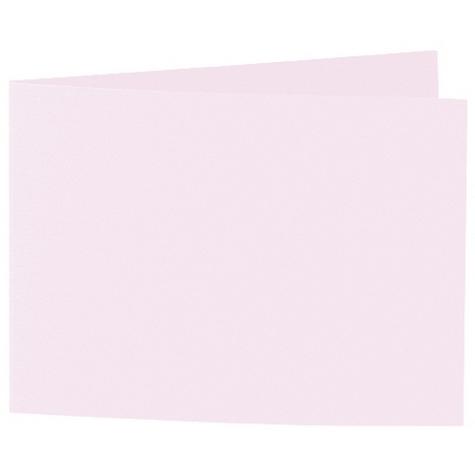 Artoz 1001 - 'Delicate Pink' Card. 338mm x 120mm 220gsm B6 Bi-Fold (Short Edge) Card.