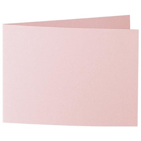 Artoz 1001 - 'Pink' Card. 338mm x 120mm 220gsm B6 Bi-Fold (Short Edge) Card.