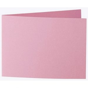 Artoz 1001 - 'Coral' Card. 338mm x 120mm 220gsm B6 Bi-Fold (Short Edge) Card.