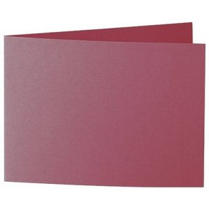 Artoz 1001 - 'Purple Red' Card. 338mm x 120mm 220gsm B6 Bi-Fold (Short Edge) Card.