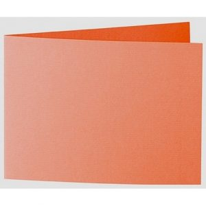 Artoz 1001 - 'Lobster Red' Card. 338mm x 120mm 220gsm B6 Bi-Fold (Short Edge) Card.