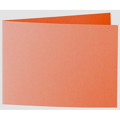 Artoz 1001 - 'Lobster Red' Card. 338mm x 120mm 220gsm B6 Bi-Fold (Short Edge) Card.