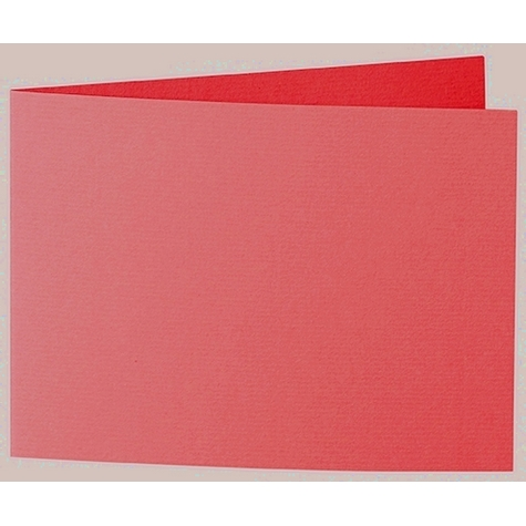 Artoz 1001 - 'Light Red' Card. 338mm x 120mm 220gsm B6 Bi-Fold (Short Edge) Card.
