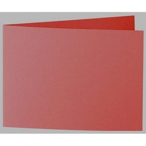 Artoz 1001 - 'Fire Red' Card. 338mm x 120mm 220gsm B6 Bi-Fold (Short Edge) Card.