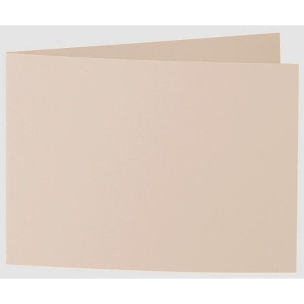 Artoz 1001 - 'Apricot' Card. 338mm x 120mm 220gsm B6 Bi-Fold (Short Edge) Card.