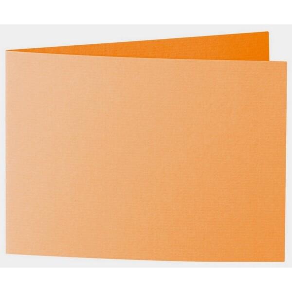 Artoz 1001 - 'Orange' Card. 338mm x 120mm 220gsm B6 Bi-Fold (Short Edge) Card.