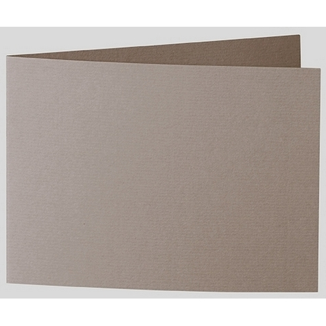 Artoz 1001 - 'Taupe' Card. 338mm x 120mm 220gsm B6 Bi-Fold (Short Edge) Card.