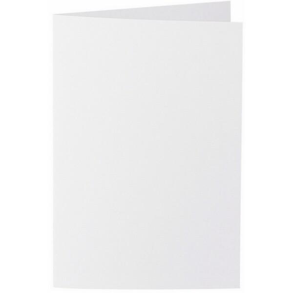 Artoz 1001 - 'Blossom White' Card. 250mm x 180mm 220gsm E6 Bi-Fold (Long Edge) Card.
