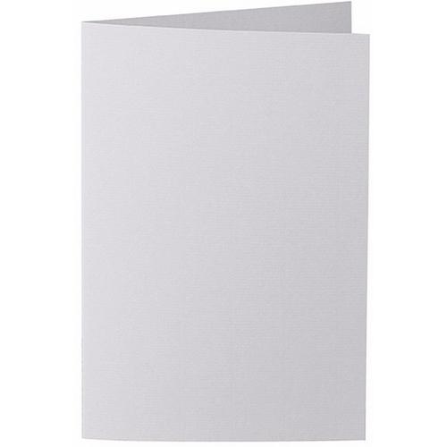 Artoz 1001 - 'Light Grey' Card. 250mm x 180mm 220gsm E6 Bi-Fold (Long Edge) Card.