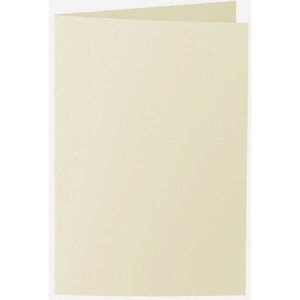 Artoz 1001 - 'Crema' Card. 250mm x 180mm 220gsm E6 Bi-Fold (Long Edge) Card.