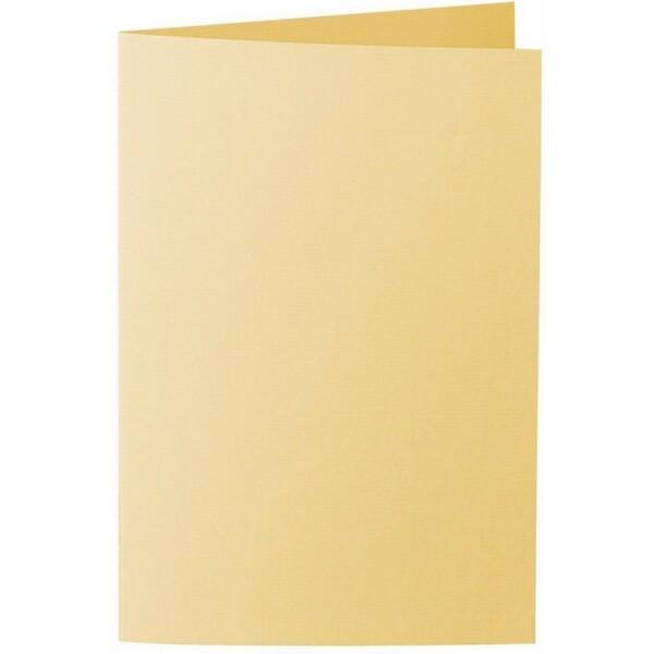 Artoz 1001 - 'Light Yellow' Card. 250mm x 180mm 220gsm E6 Bi-Fold (Long Edge) Card.