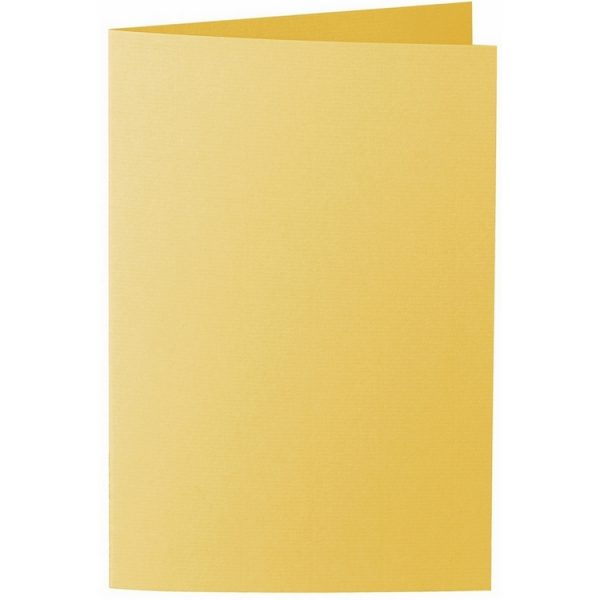 Artoz 1001 - 'Sun Yellow' Card. 250mm x 180mm 220gsm E6 Bi-Fold (Long Edge) Card.