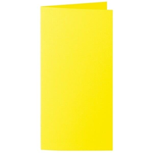 Artoz 1001 - 'Corn Yellow' Card. 250mm x 180mm 220gsm E6 Bi-Fold (Long Edge) Card.