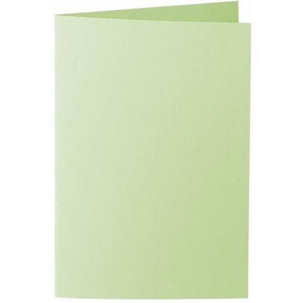 Artoz 1001 - 'Birchtree Green' Card. 250mm x 180mm 220gsm E6 Bi-Fold (Long Edge) Card.