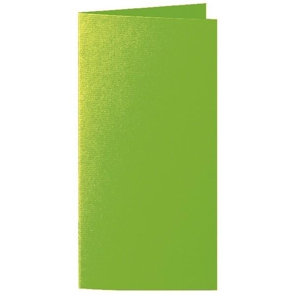 Artoz 1001 - 'Pea Green' Card. 250mm x 180mm 220gsm E6 Bi-Fold (Long Edge) Card.