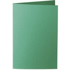 Artoz 1001 - 'Firtree Green' Card. 250mm x 180mm 220gsm E6 Bi-Fold (Long Edge) Card.