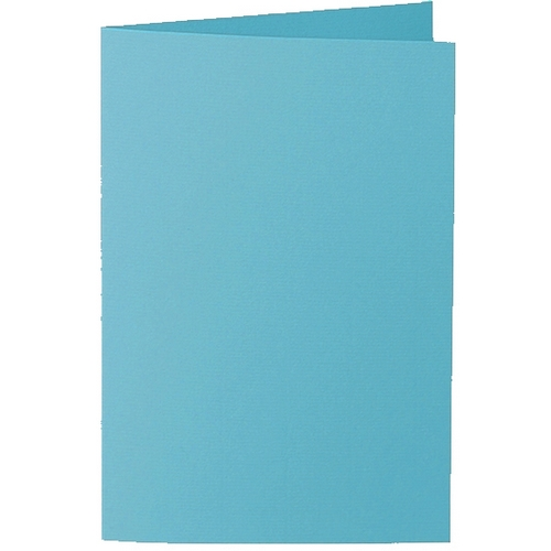 Artoz 1001 - 'Turquoise' Card. 250mm x 180mm 220gsm E6 Bi-Fold (Long Edge) Card.