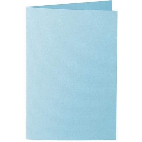 Artoz 1001 - 'Azure Blue' Card. 250mm x 180mm 220gsm E6 Bi-Fold (Long Edge) Card.
