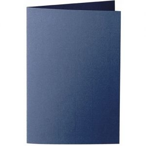 Artoz 1001 - 'Classic Blue' Card. 250mm x 180mm 220gsm E6 Bi-Fold (Long Edge) Card.