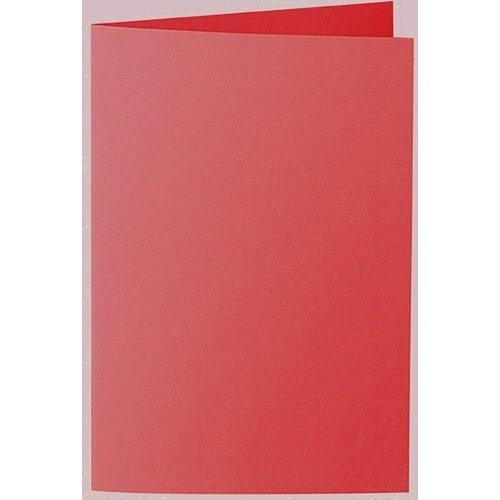 Artoz 1001 - 'Light Red' Card. 250mm x 180mm 220gsm E6 Bi-Fold (Long Edge) Card.