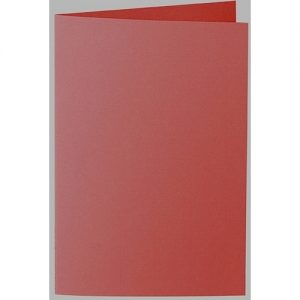 Artoz 1001 - 'Fire Red' Card. 250mm x 180mm 220gsm E6 Bi-Fold (Long Edge) Card.