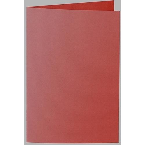 Artoz 1001 - 'Fire Red' Card. 250mm x 180mm 220gsm E6 Bi-Fold (Long Edge) Card.