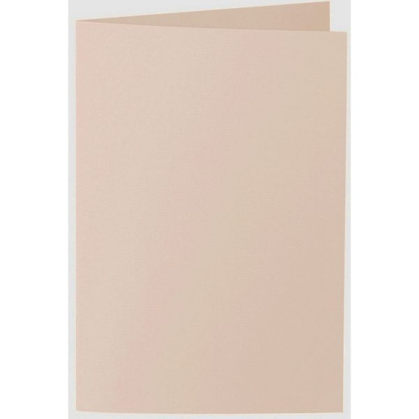 Artoz 1001 - 'Apricot' Card. 250mm x 180mm 220gsm E6 Bi-Fold (Long Edge) Card.