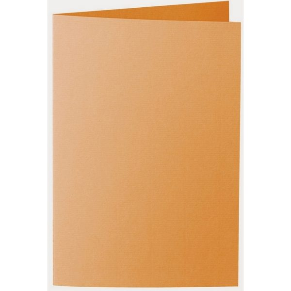 Artoz 1001 - 'Orange' Card. 250mm x 180mm 220gsm E6 Bi-Fold (Long Edge) Card.