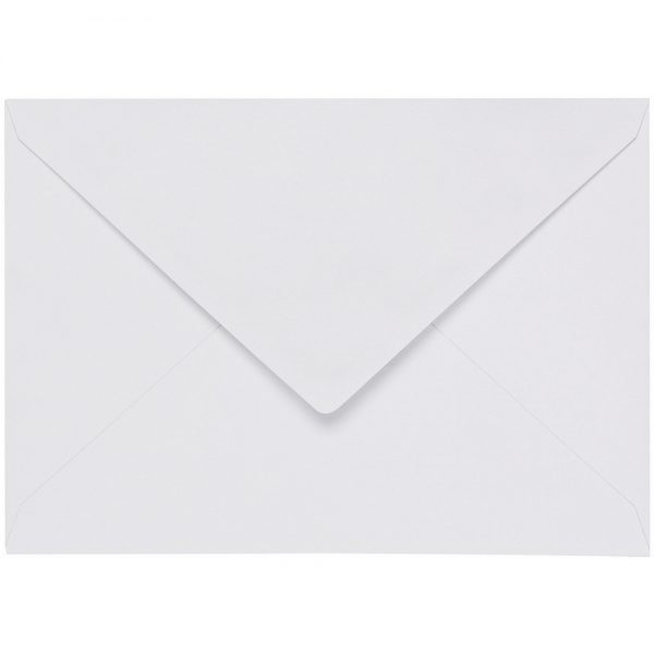 Artoz 1001 - 'Blossom White' Envelope. 191mm x 135mm 100gsm E6 Gummed Envelope.