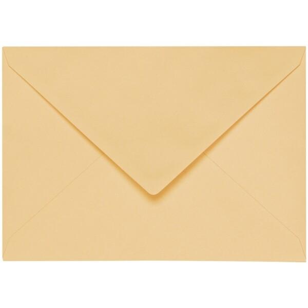 Artoz 1001 - 'Honey Yellow' Envelope. 191mm x 135mm 100gsm E6 Gummed Envelope.
