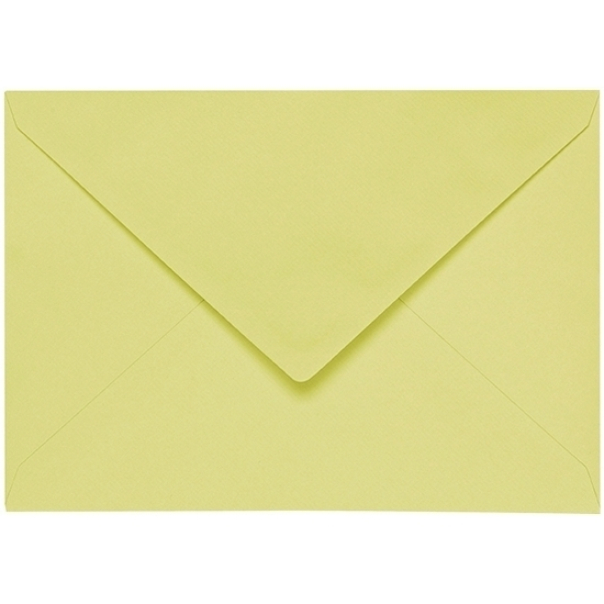 Artoz 1001 - 'Lime' Envelope. 191mm x 135mm 100gsm E6 Gummed Envelope.