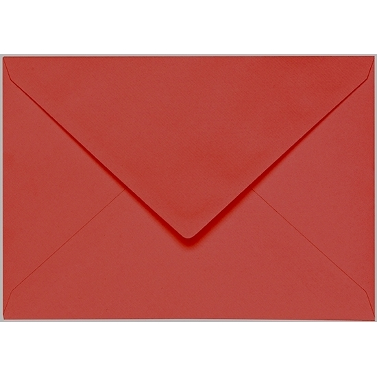 Artoz 1001 - 'Fire Red' Envelope. 191mm x 135mm 100gsm E6 Gummed Envelope.