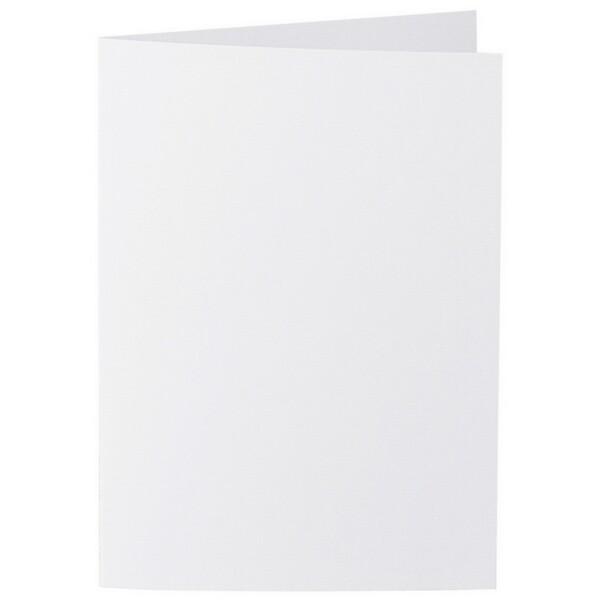 Artoz 1001 - 'Blossom White' Card. 297mm x 210mm 220gsm A5 Folded (Long Edge) Card.