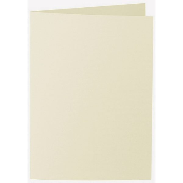 Artoz 1001 - 'Crema' Card. 297mm x 210mm 220gsm A5 Folded (Long Edge) Card.