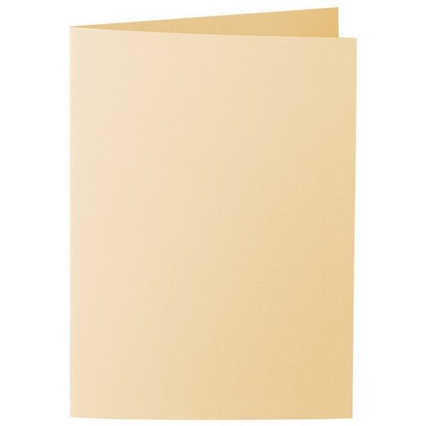 Artoz 1001 - 'Honey Yellow' Card. 297mm x 210mm 220gsm A5 Folded (Long Edge) Card.