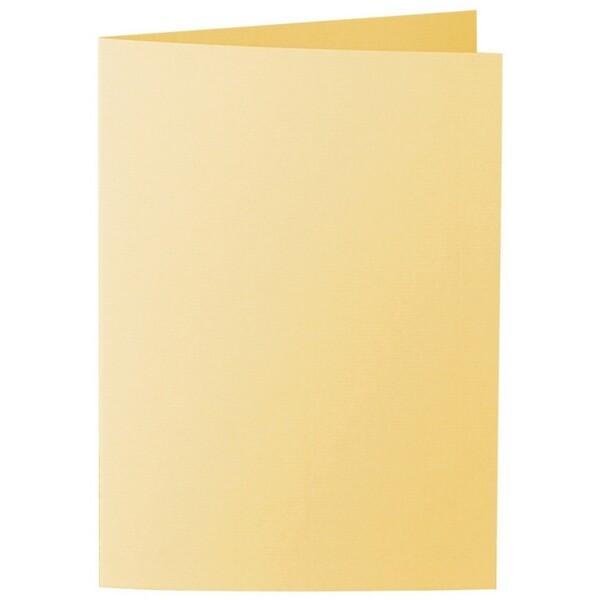 Artoz 1001 - 'Light Yellow' Card. 297mm x 210mm 220gsm A5 Folded (Long Edge) Card.