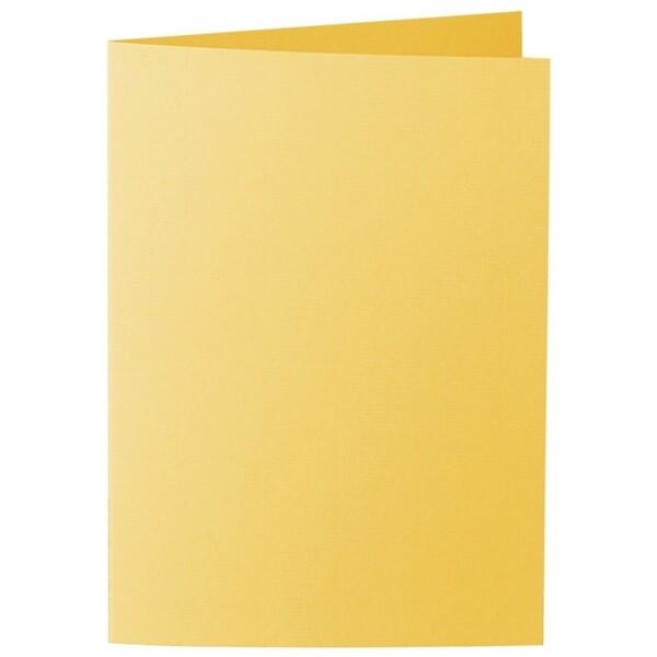 Artoz 1001 - 'Sun Yellow' Card. 297mm x 210mm 220gsm A5 Folded (Long Edge) Card.