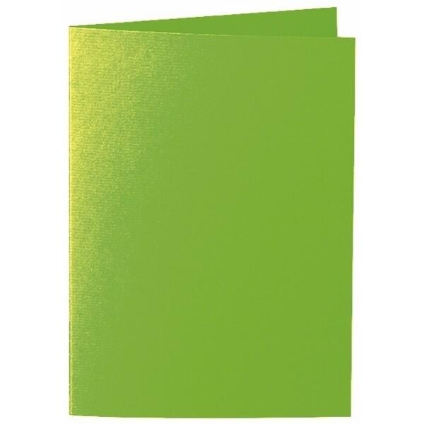Artoz 1001 - 'Pea Green' Card. 297mm x 210mm 220gsm A5 Folded (Long Edge) Card.