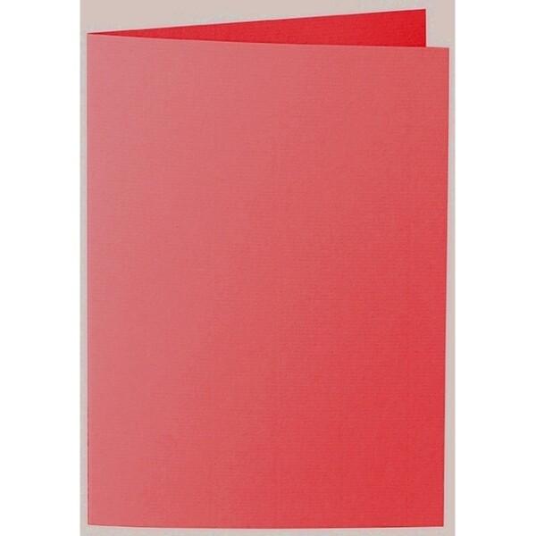 Artoz 1001 - 'Light Red' Card. 297mm x 210mm 220gsm A5 Folded (Long Edge) Card.