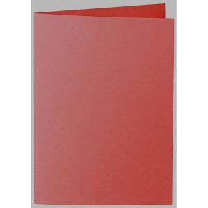 Artoz 1001 - 'Fire Red' Card. 297mm x 210mm 220gsm A5 Folded (Long Edge) Card.