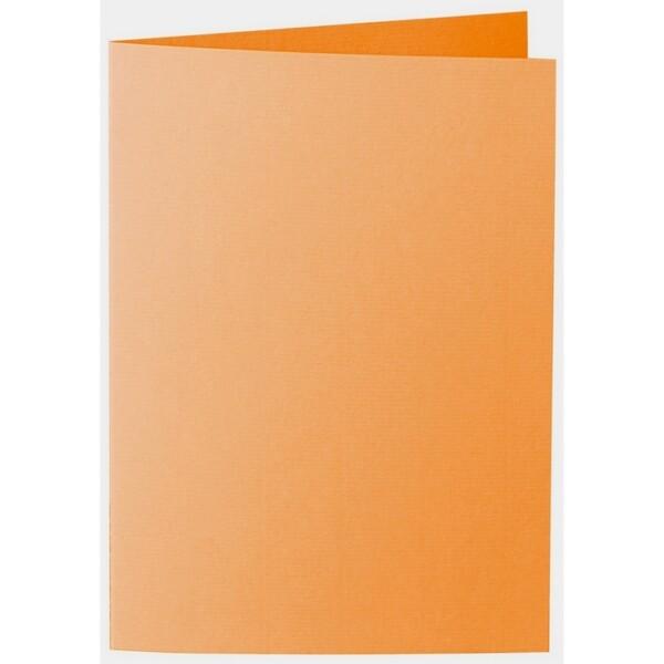 Artoz 1001 - 'Orange' Card. 297mm x 210mm 220gsm A5 Folded (Long Edge) Card.