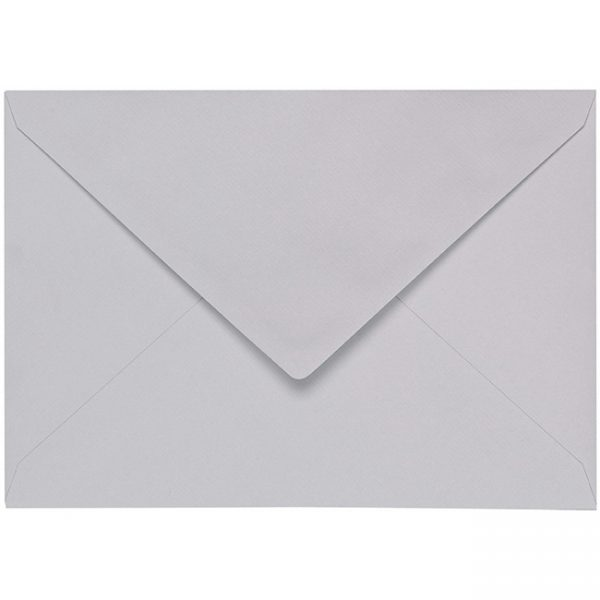 Artoz 1001 - 'Light Grey' Envelope. 229mm x 162mm 100gsm C5 Lined Gummed Envelope.