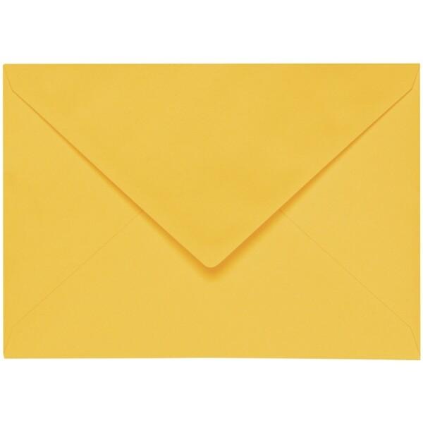 Artoz 1001 - 'Sun Yellow' Envelope. 229mm x 162mm 100gsm C5 Lined Gummed Envelope.