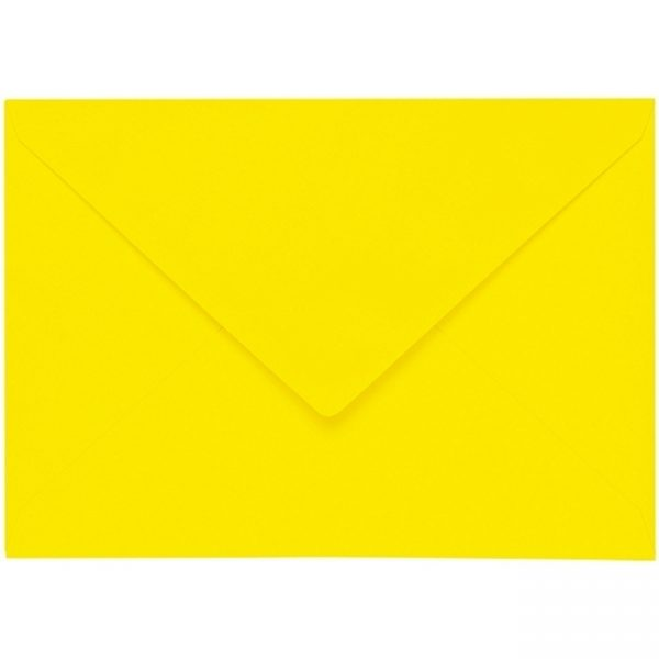 Artoz 1001 - 'Corn Yellow' Envelope. 229mm x 162mm 100gsm C5 Lined Gummed Envelope.