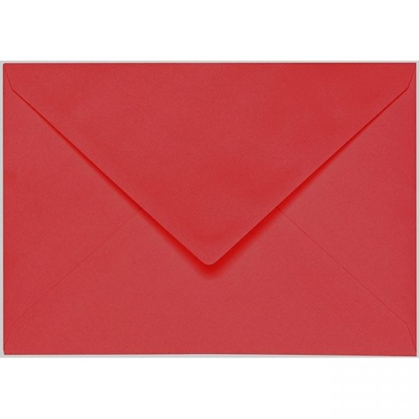 Artoz 1001 - 'Red' Envelope. 229mm x 162mm 100gsm C5 Lined Gummed Envelope.