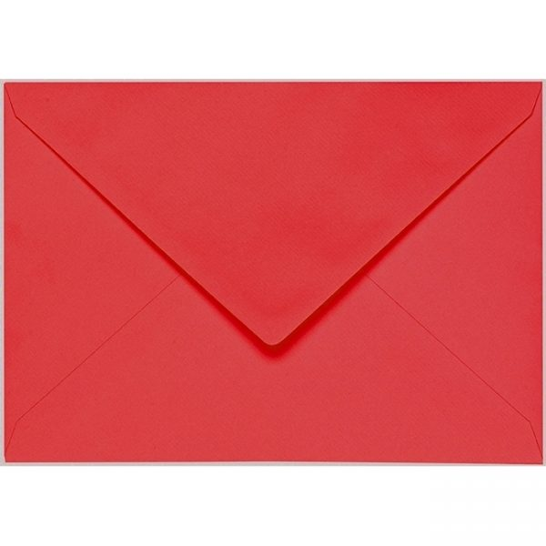Artoz 1001 - 'Light Red' Envelope. 229mm x 162mm 100gsm C5 Lined Gummed Envelope.