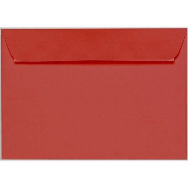Artoz 1001 - 'Fire Red' Envelope. 229mm x 162mm 100gsm C5 Peel/Seal Envelope.