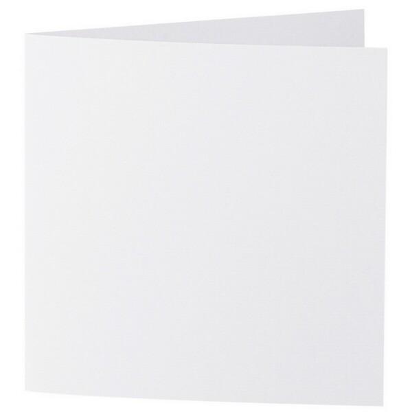 Artoz 1001 - 'Blossom White' Card. 260mm x 130mm 220gsm Small Square Folded Card.
