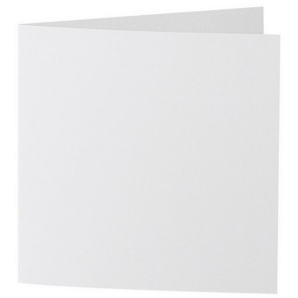 Artoz 1001 - 'Bianco White' Card. 260mm x 130mm 220gsm Small Square Folded Card.